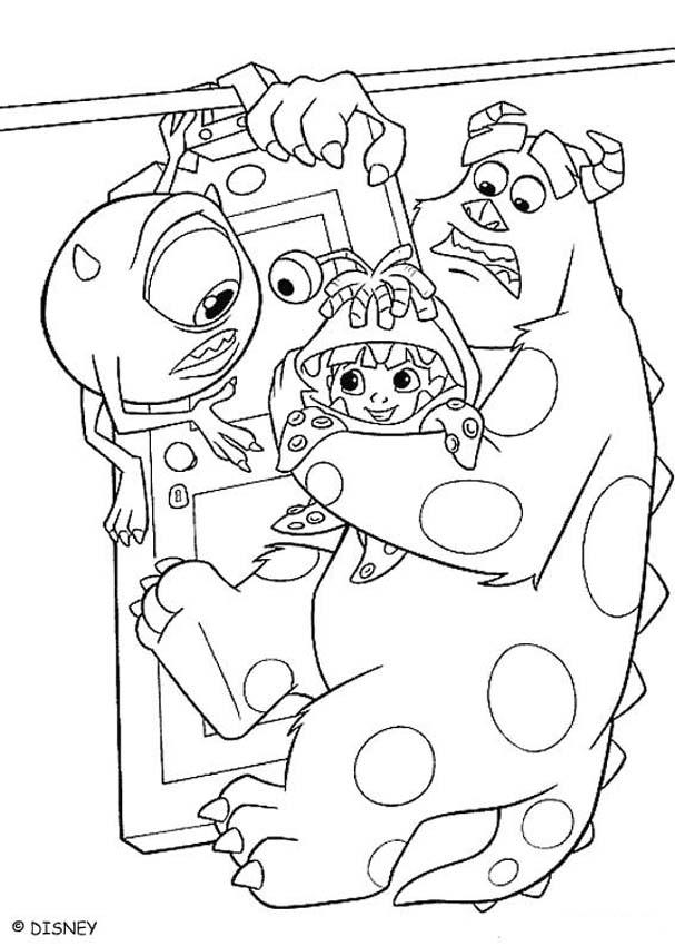 Monsters, Inc. Coloring Pages - Mike, Sulley And Boo - Coloring Home