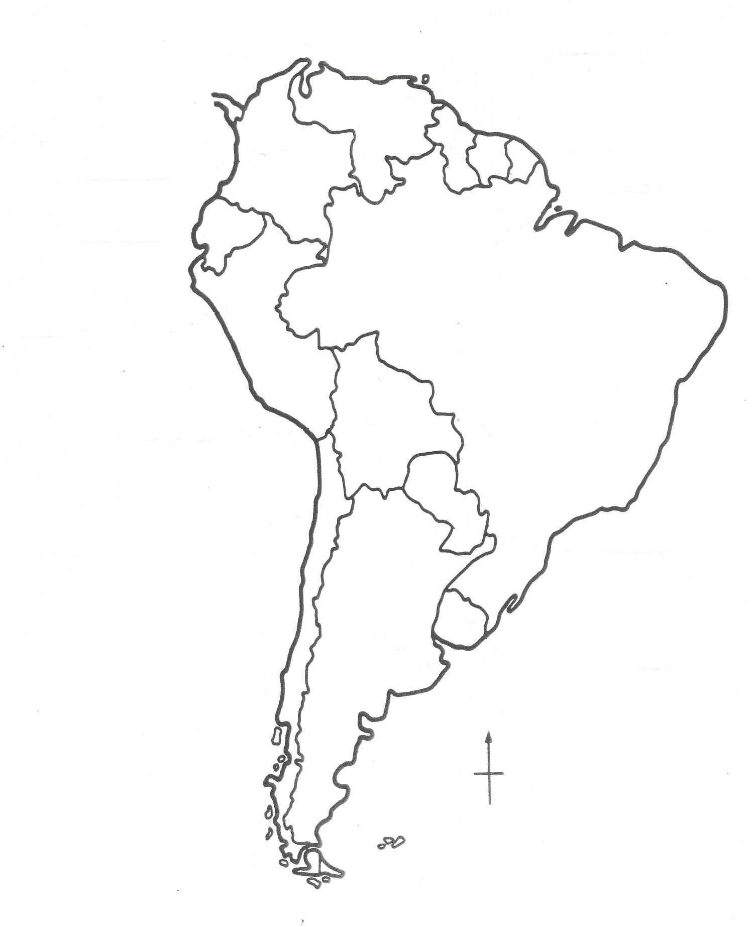 Coloring Map Of South America #5 - South America Map Coloring ...