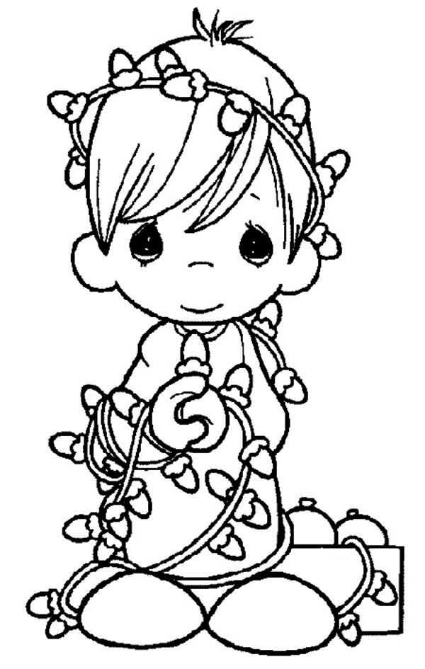 Precious Moments Coloring Pages Christmas Coloring Home