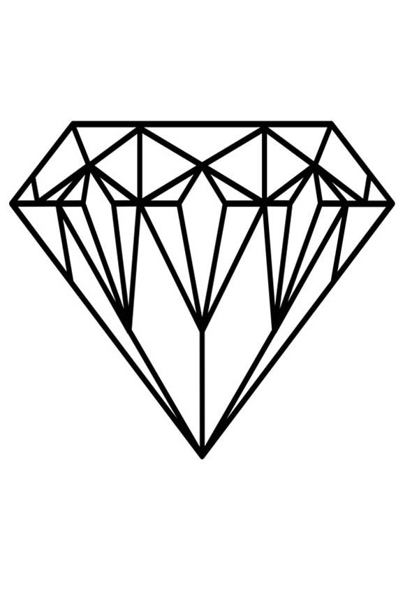 diamond coloring pages kidsuki. Black Bedroom Furniture Sets. Home Design Ideas