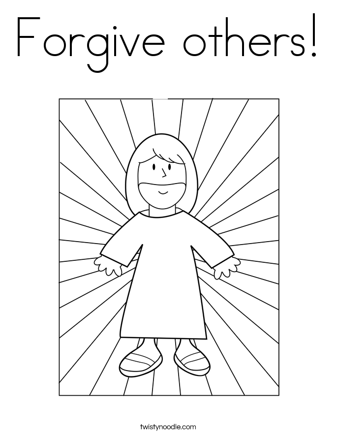jesus forgiveness coloring pages - photo#9
