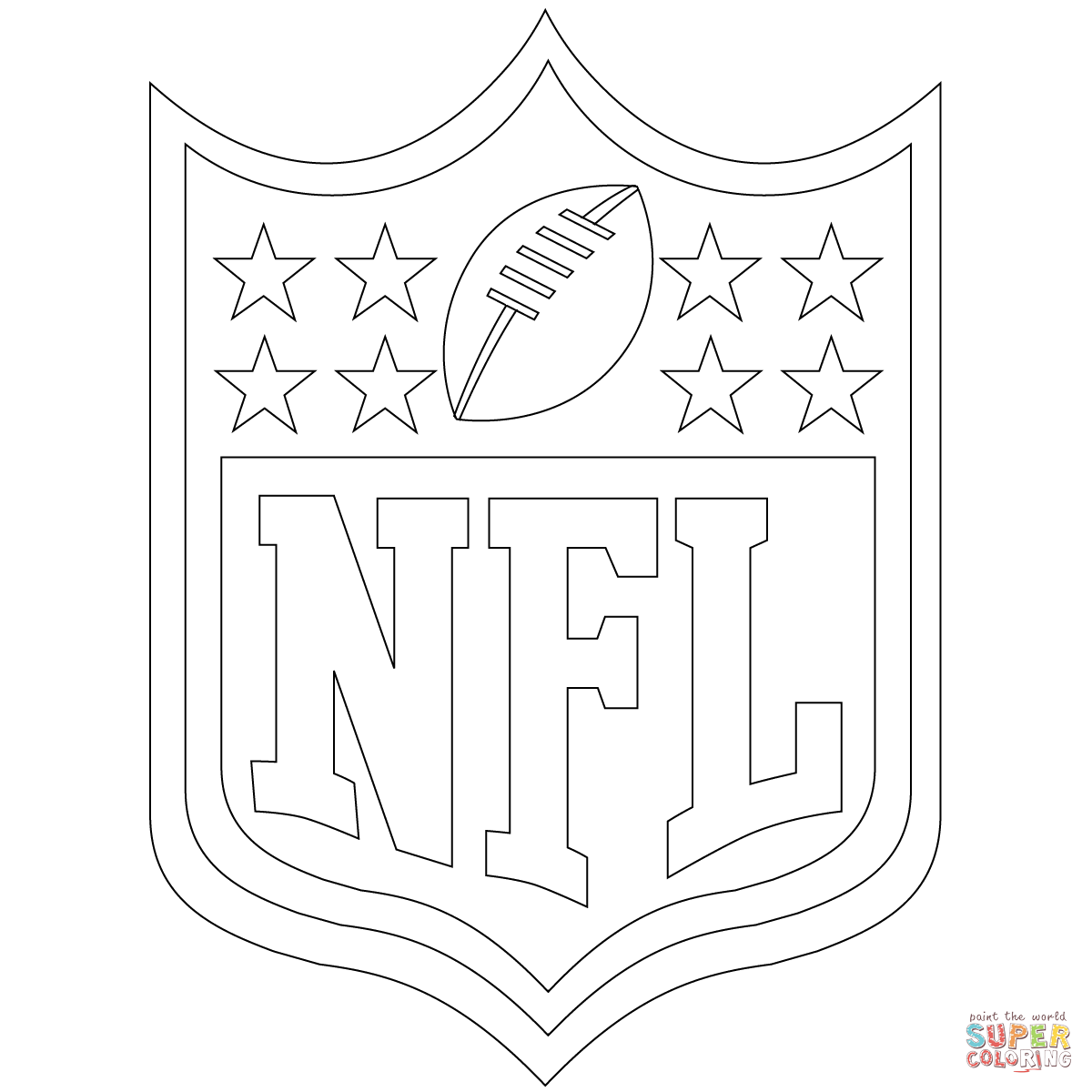 nfl logo coloring page free printable coloring pages