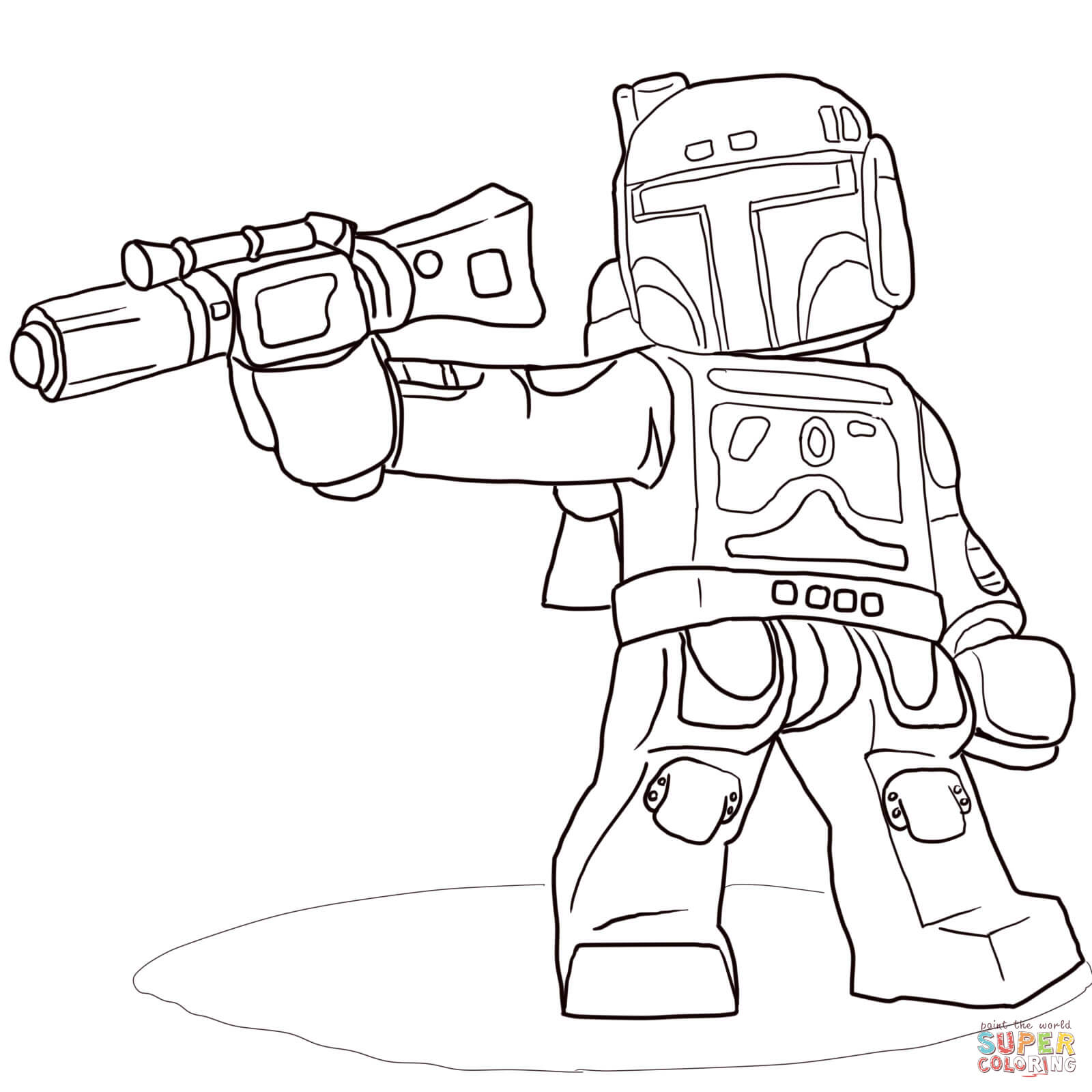 Lego Star Wars Boba Fett coloring page | Free Printable Coloring Pages