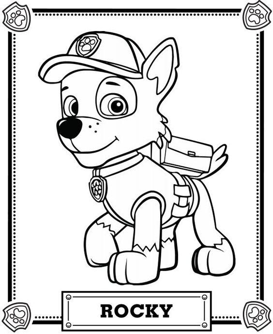 roky patrol coloring page