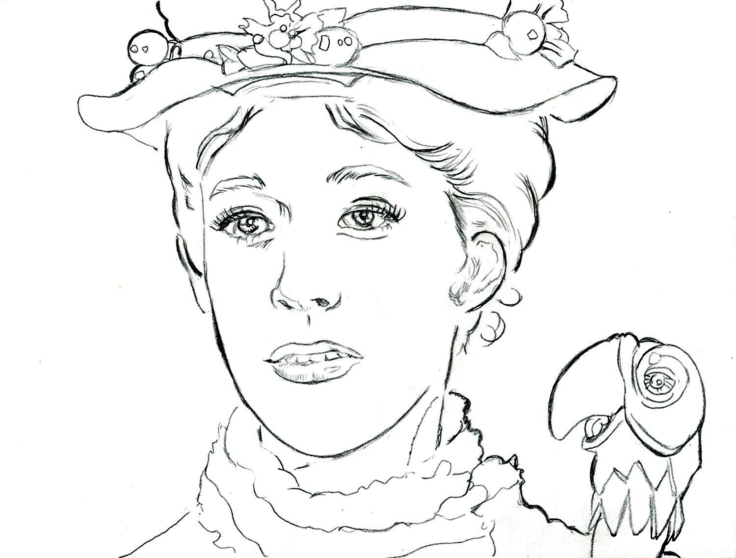 Mary Poppins Coloring Page