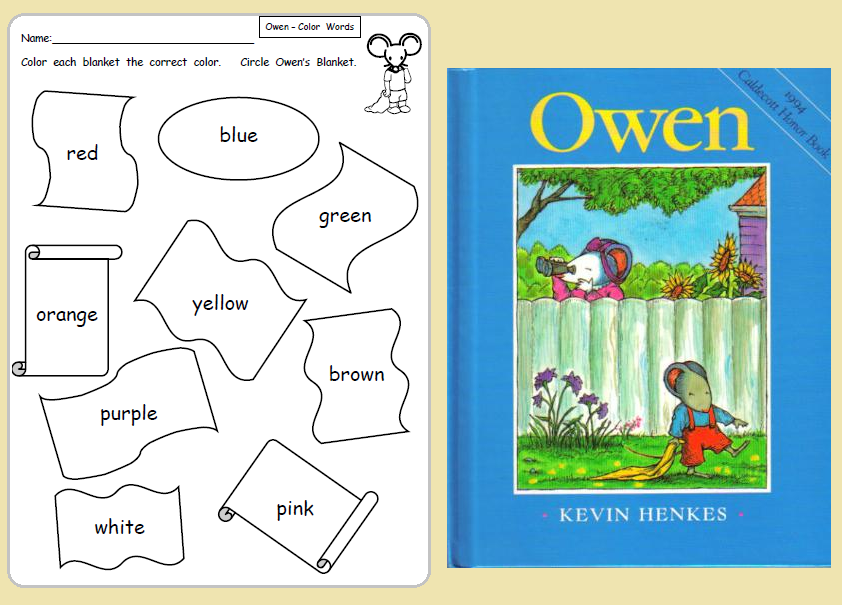 Owen By Kevin Henkes Activity Sheet - Coloring Home