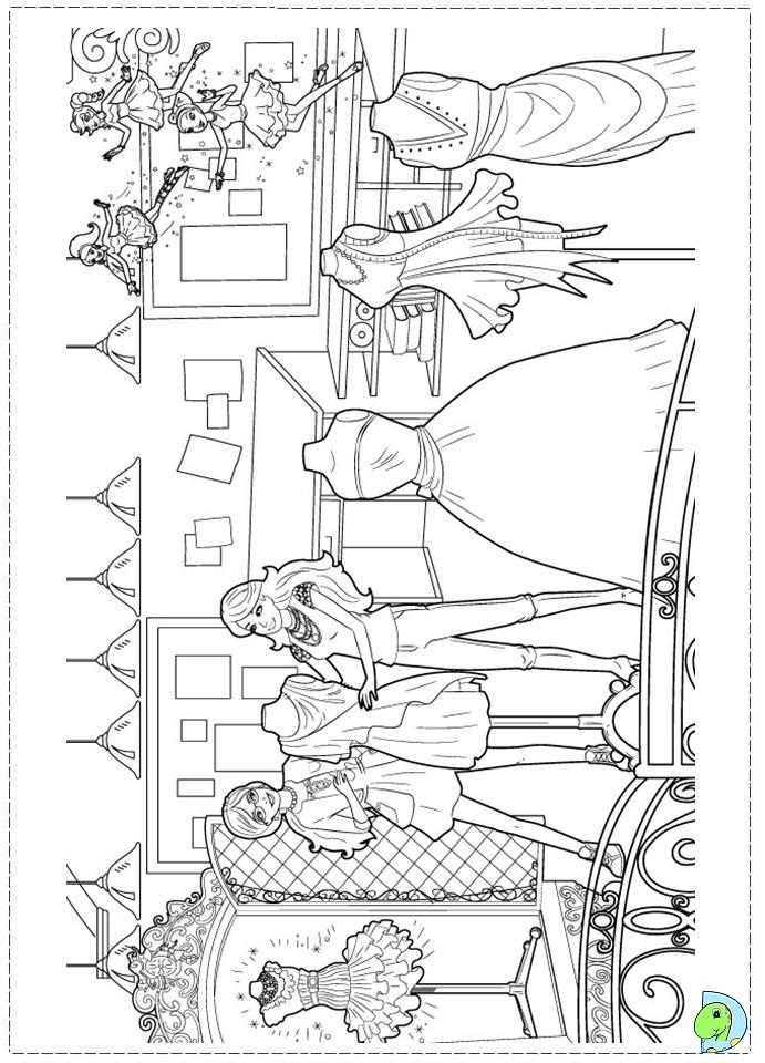 Fashion coloring pages printable az coloring pages for Fashion barbie coloring pages