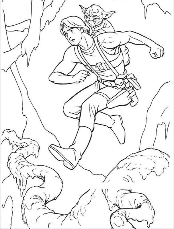 Yoda And Hansolo Coloring Pages For Kids Be6 Star Wars