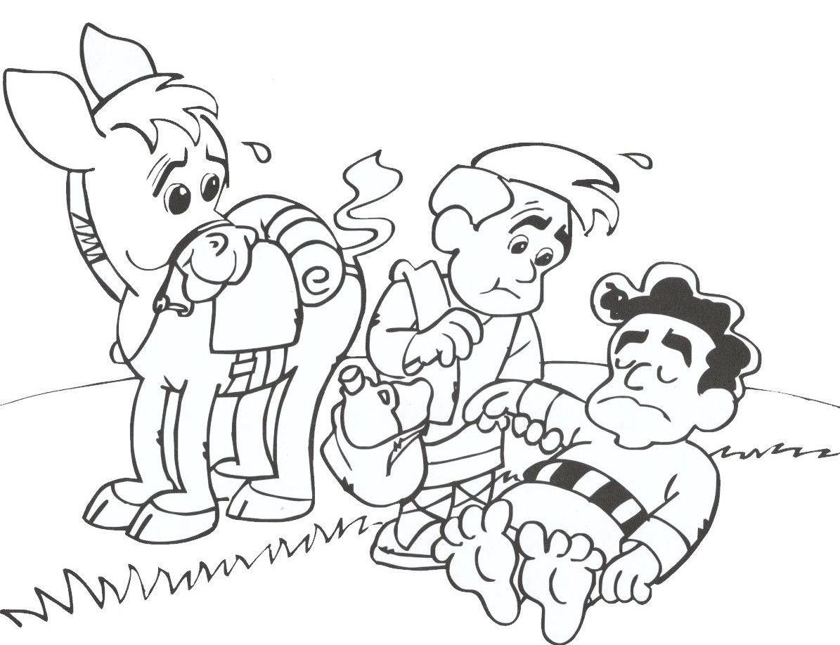 Coloring Pages Of The Good Samaritan