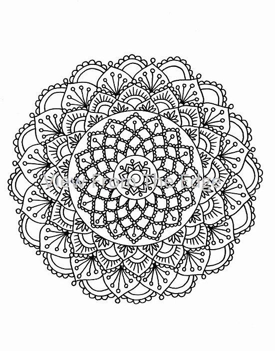 mehndi coloring page