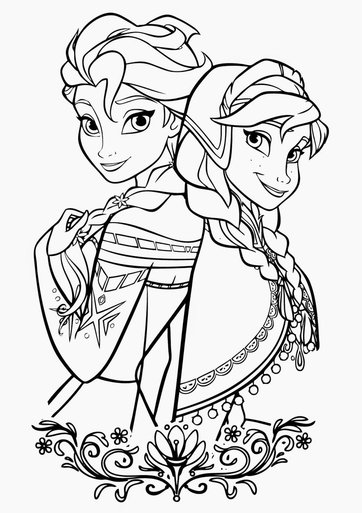 Frozen Coloring Pages - Coloring Home