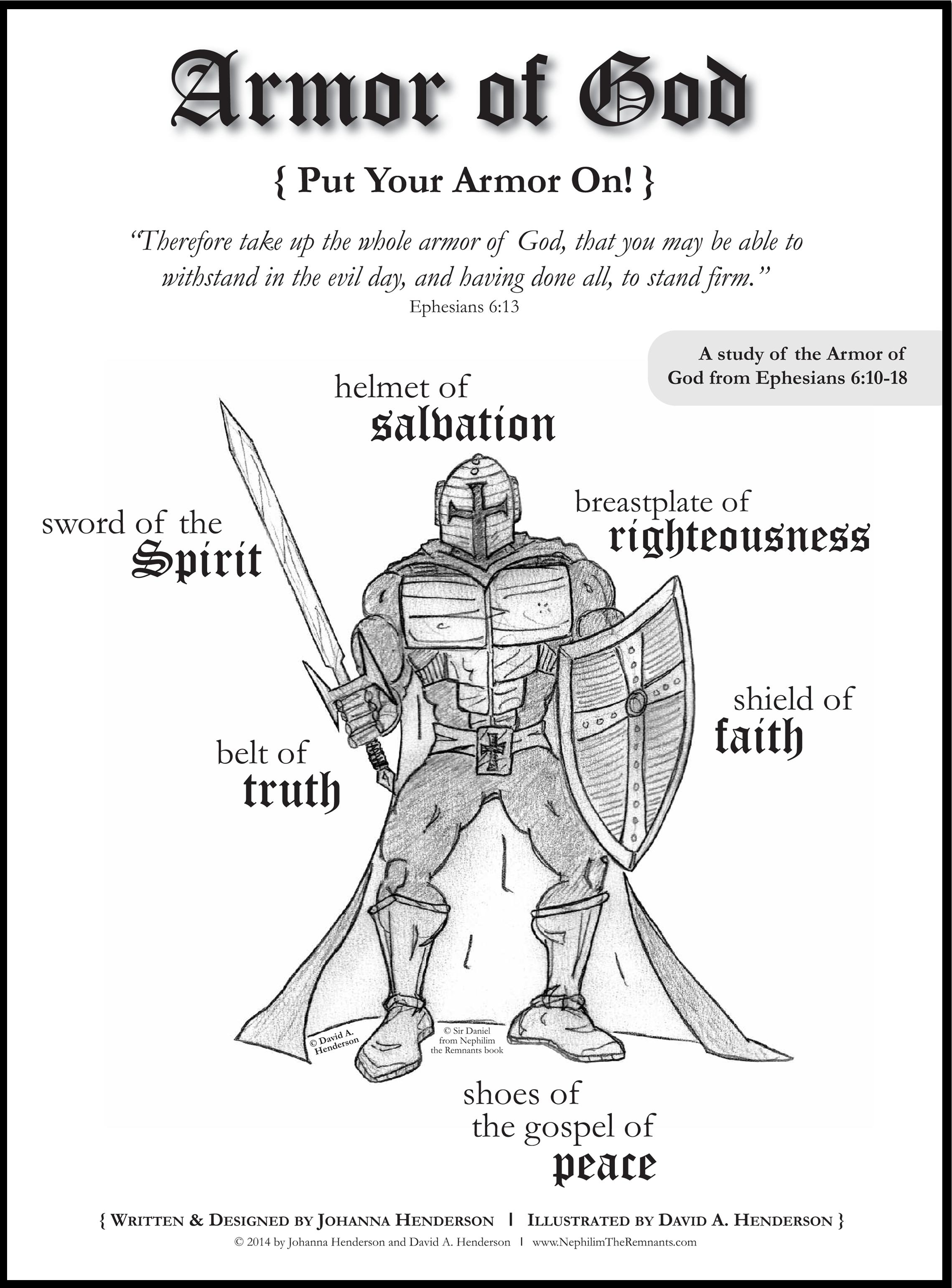 Free Printable Armor Of God Coloring Pages - Coloring pages