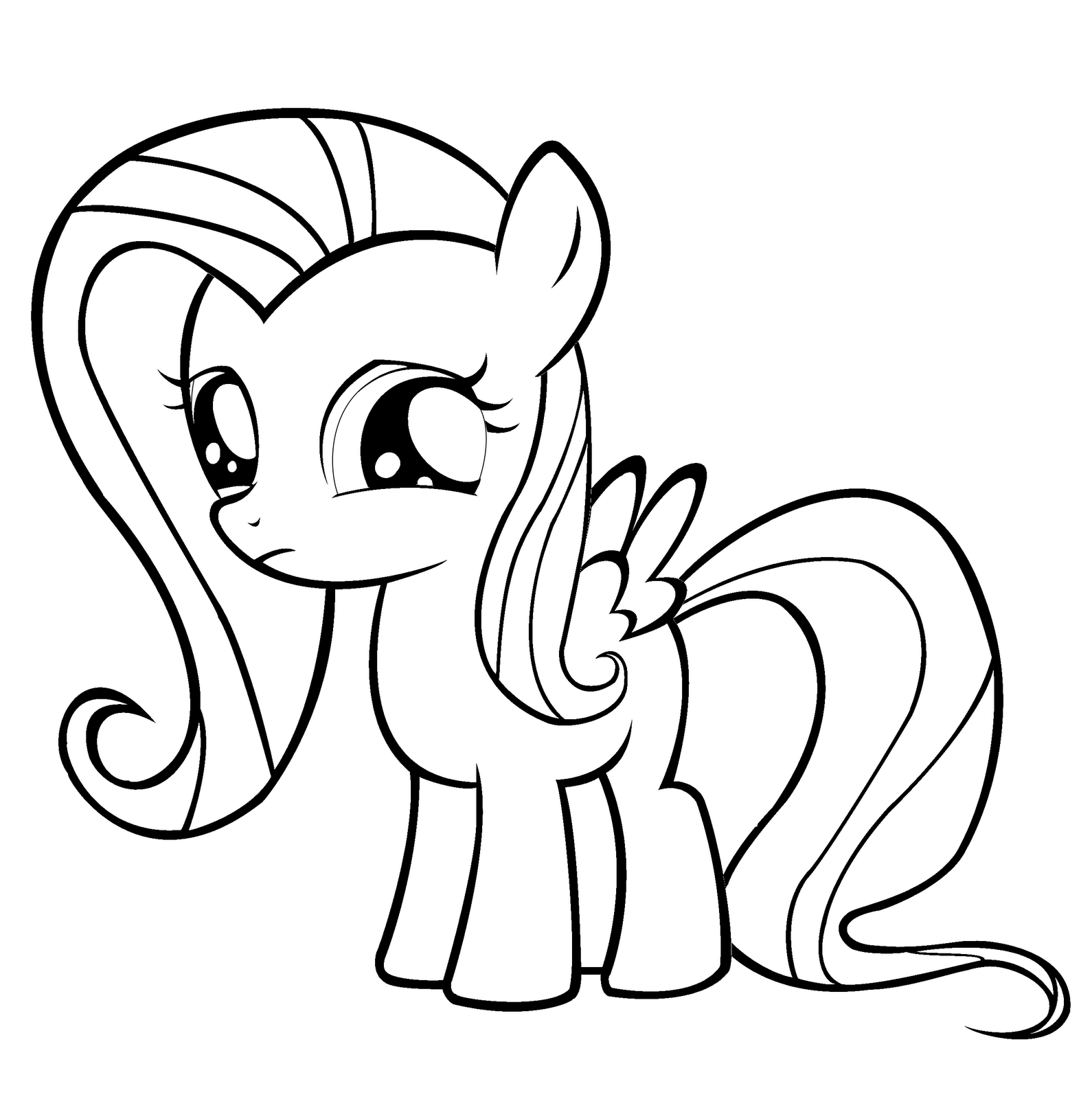 Filly Coloring Pages - Coloring Home