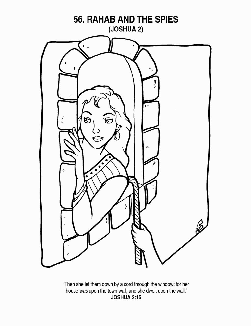 Rahab Coloring Page | Coloring Pages