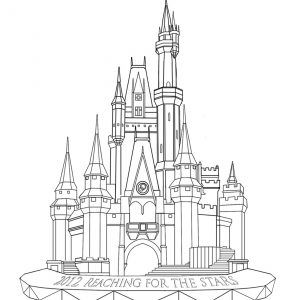 free magic kingdom coloring pages - photo#4