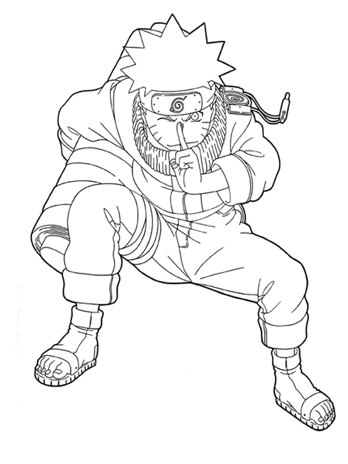 Free Printable Naruto Coloring Pages For Kids Coloring Home