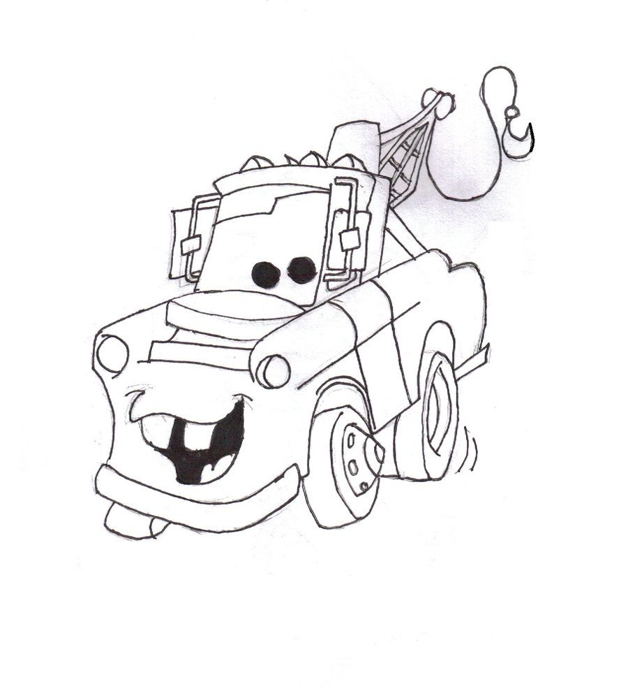 Tow Mater Mouth Coloring Sheets Coloring Pages