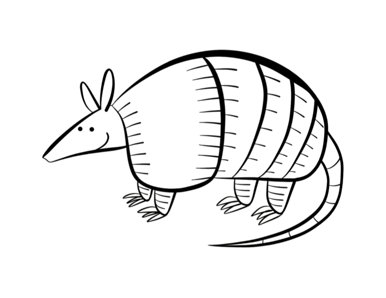 armadillo coloring page colordad - Armadillo Coloring Pages Print