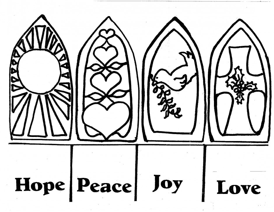 Advent Candles Wreath Colouring Pages 184454 Advent Coloring Pages