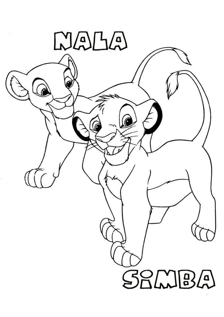 simba and nala coloring pages - photo#11