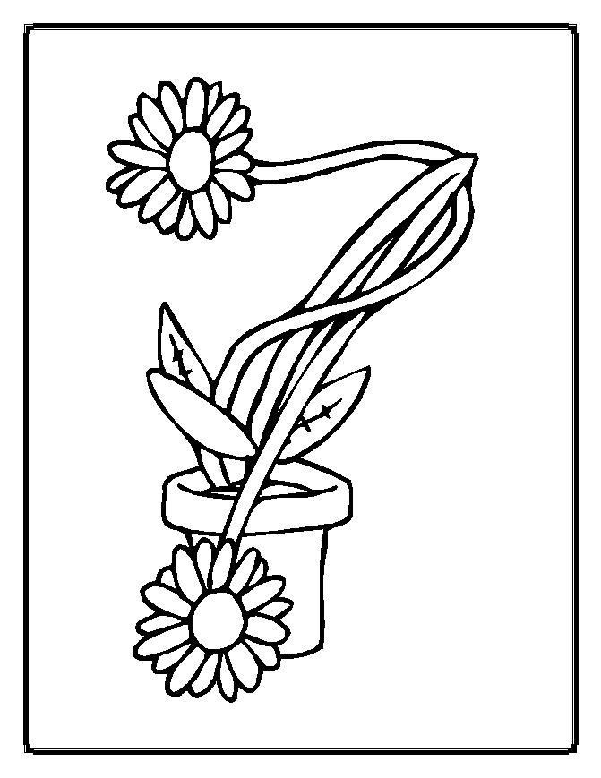 Coloring Pages Christmas Flower Pot Coloring Best Free