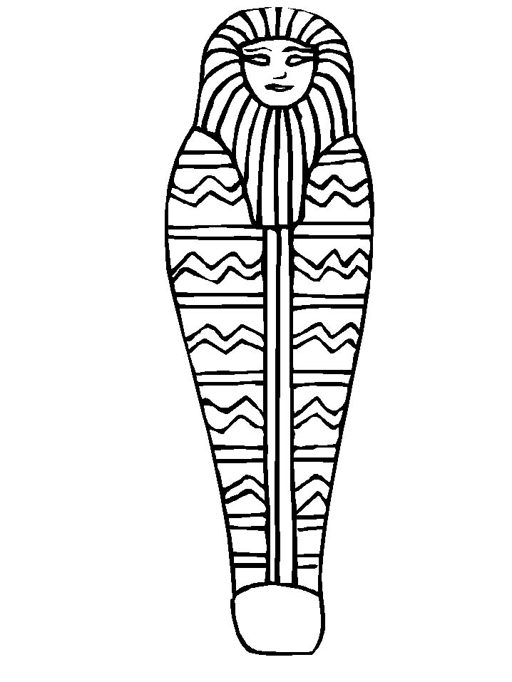 egyptian mummy coloring pages - sarcophagus coloring page az coloring pages
