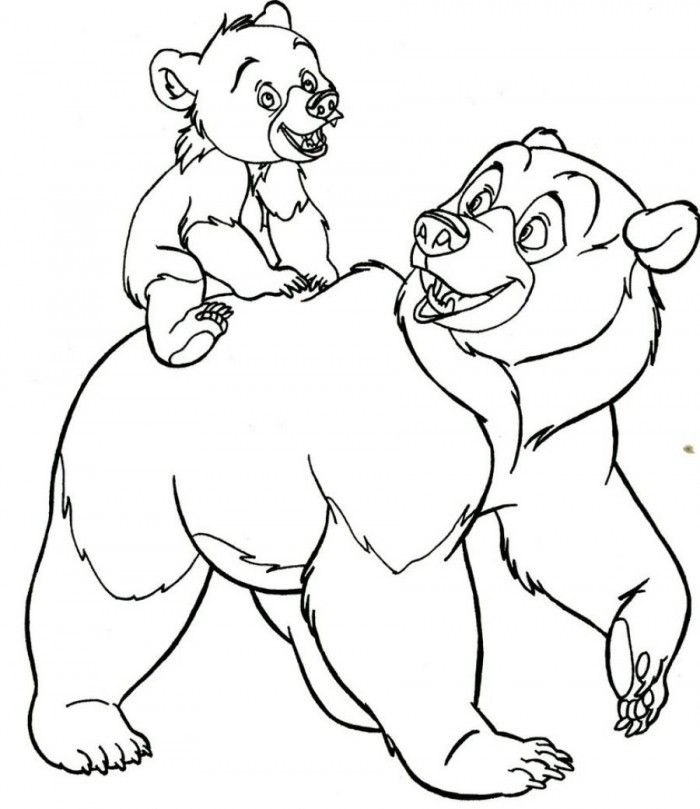 Brother Bear Coloring Pages Disney | 99coloring.com