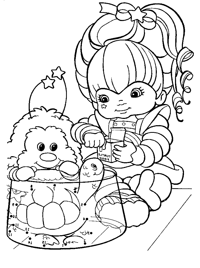 rainbow brite coloring pages - coloring pages rainbow brite az coloring pages