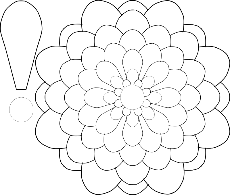 big flower paper template - large flower template az coloring pages