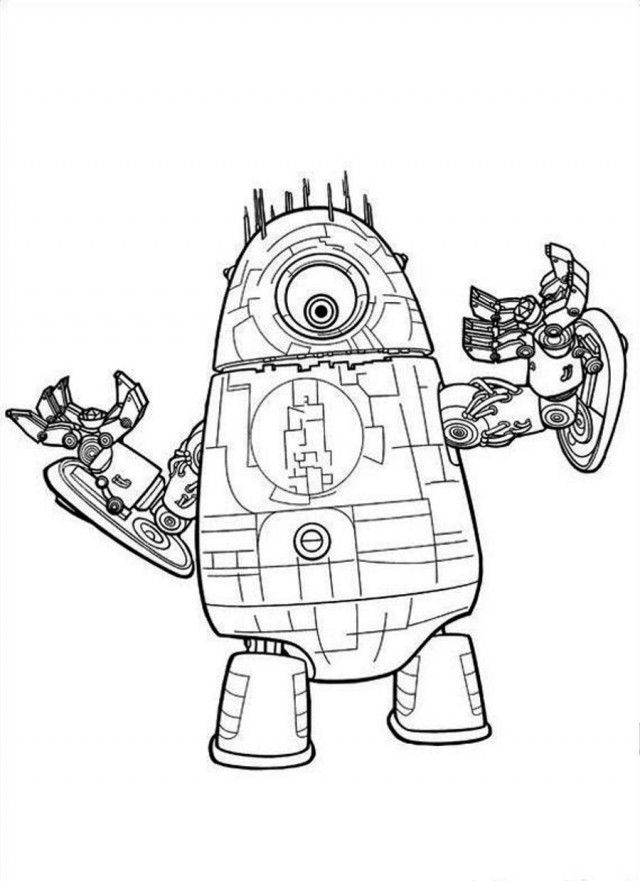 robot monster coloring pages - photo#11