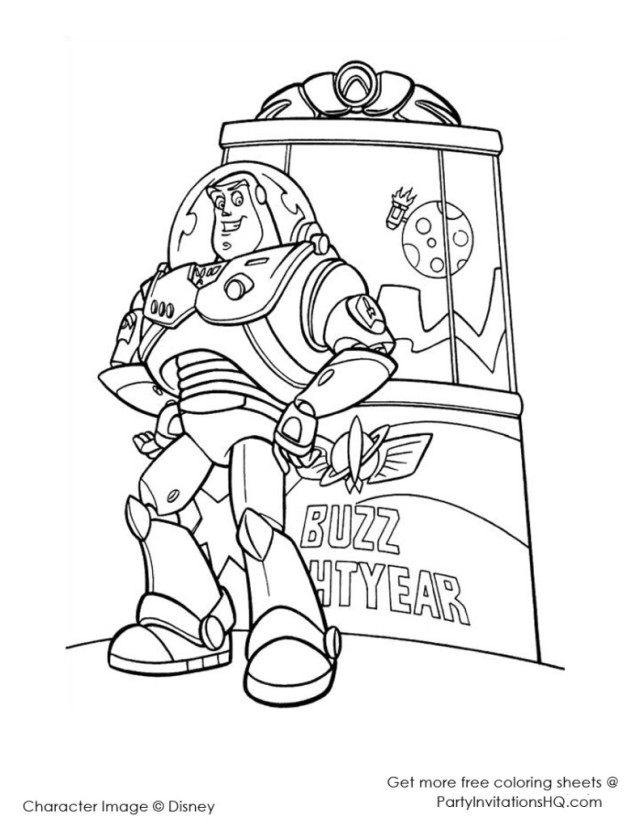 buzz lightyears wings coloring pages - photo#20