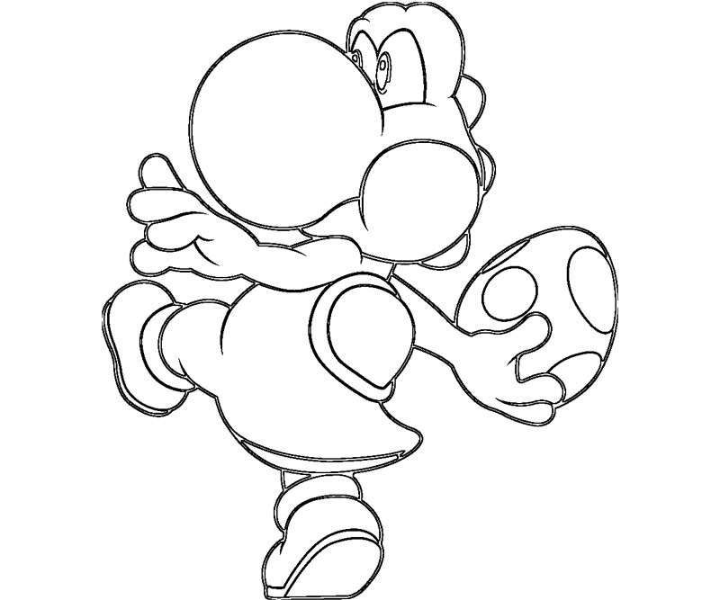 baby yoshi coloring pages - photo#7