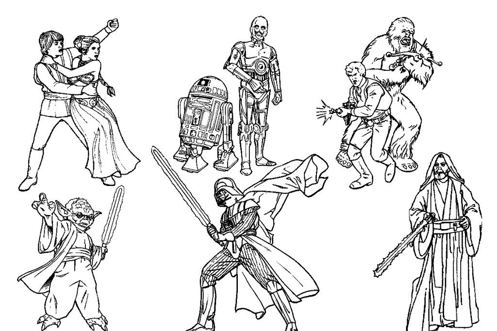 Star wars coloring pages to print coloring home for Star wars christmas coloring pages