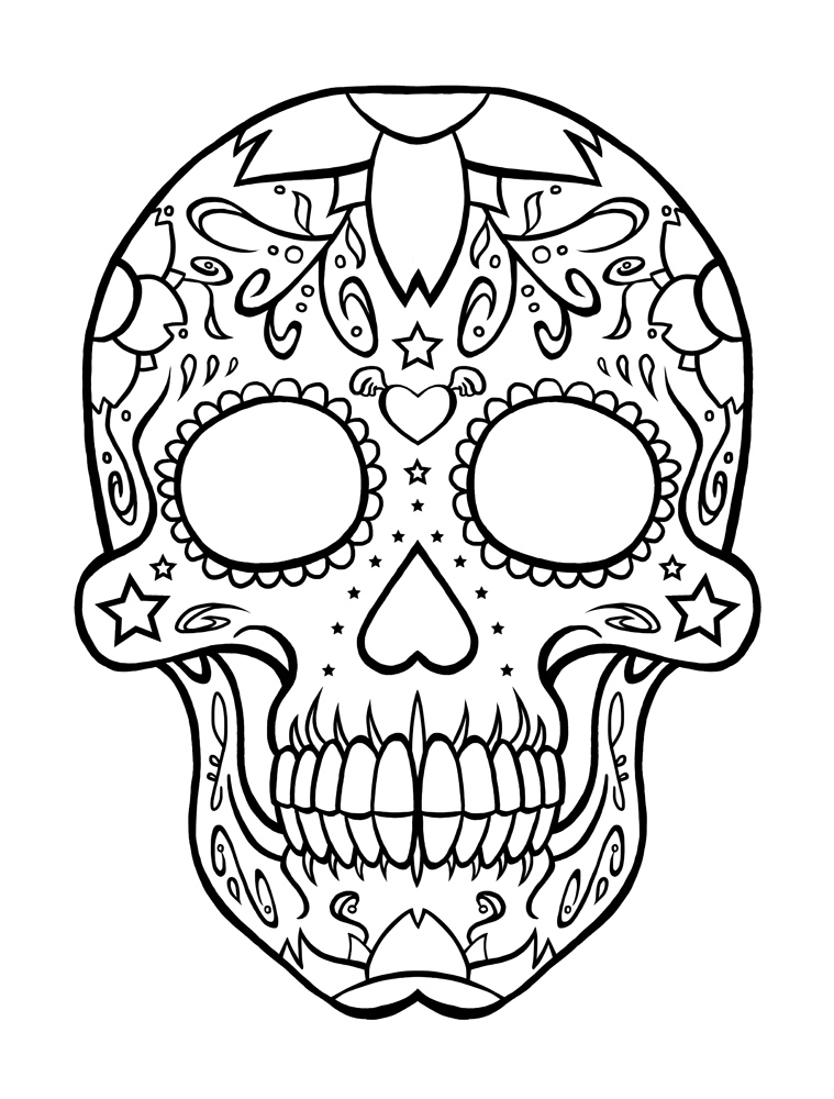 Printable coloring pages of skulls az coloring pages for Coloring pages skulls