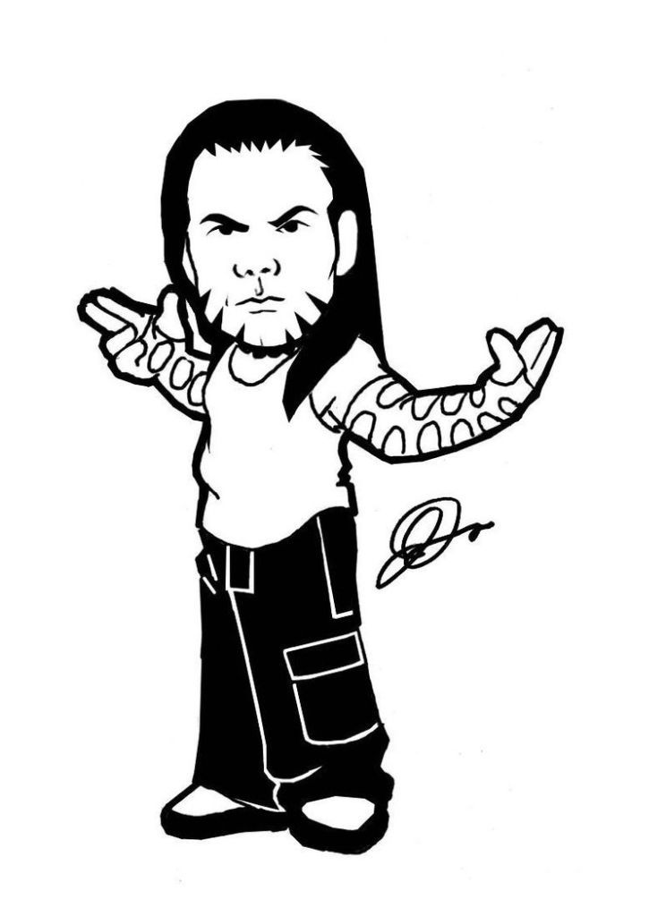 jeff hardy coloring pages free - photo#17
