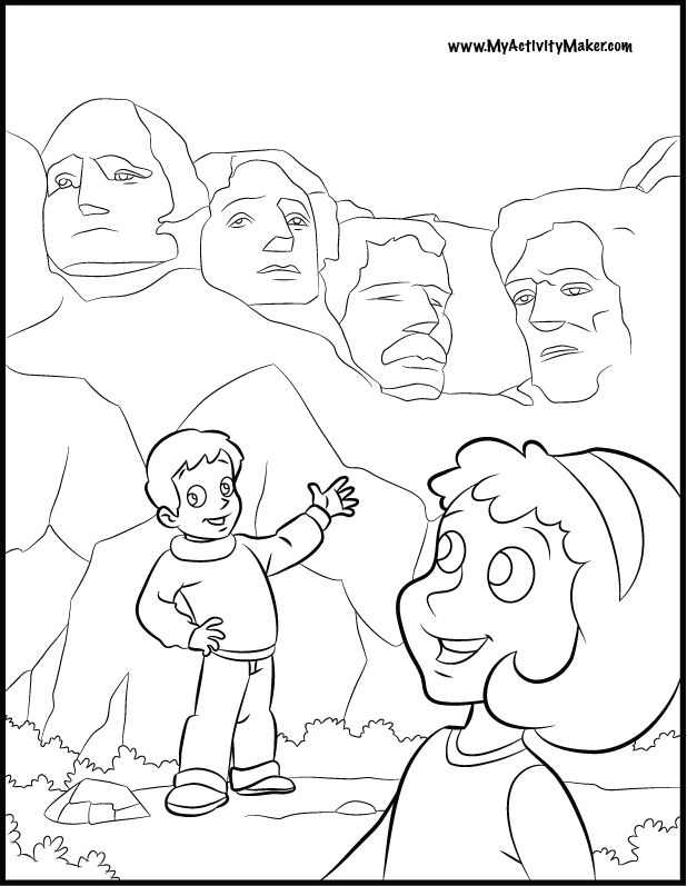 free president coloring pages - photo#32