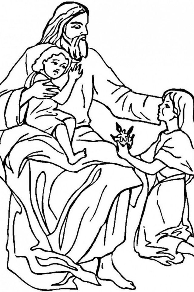 Coloring Pages Of Baby Jesus - Coloring Home