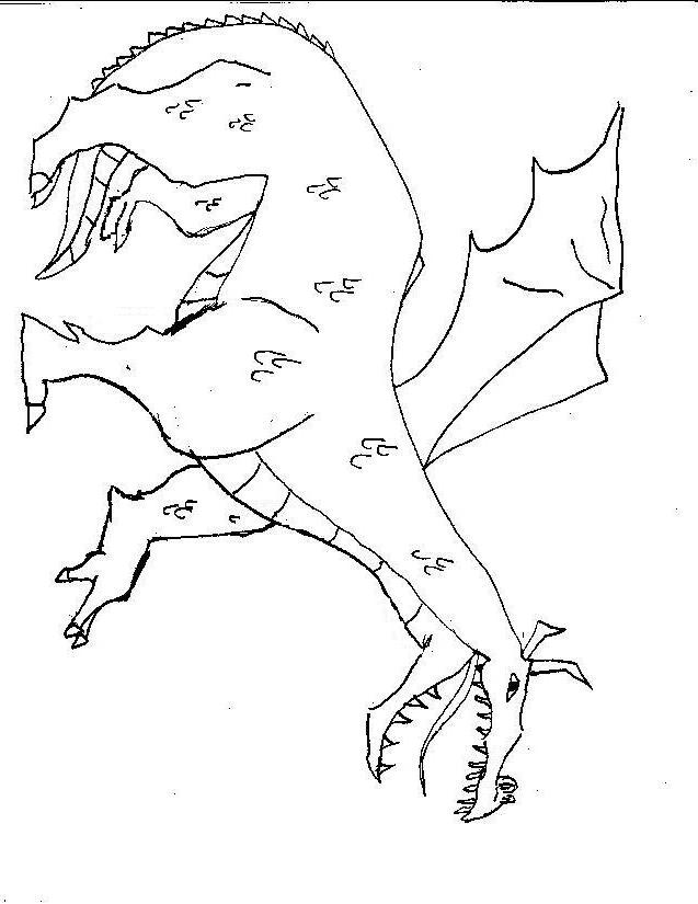 fairy and dragon coloring pages - photo#45