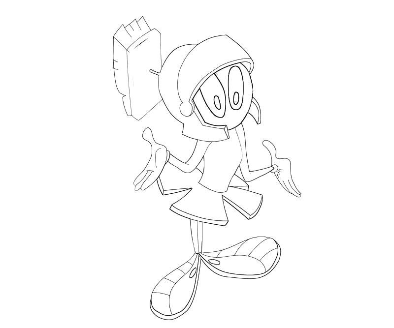 marvin martian coloring pages - photo#11