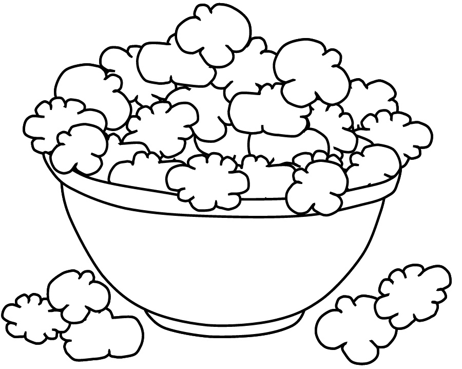 popcorn printable coloring pages - photo#9