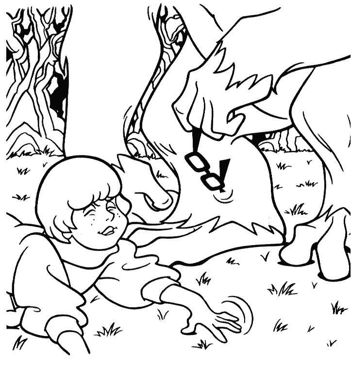Scooby Doo Characters Coloring