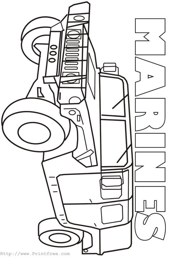 Coloring Page Image Marines