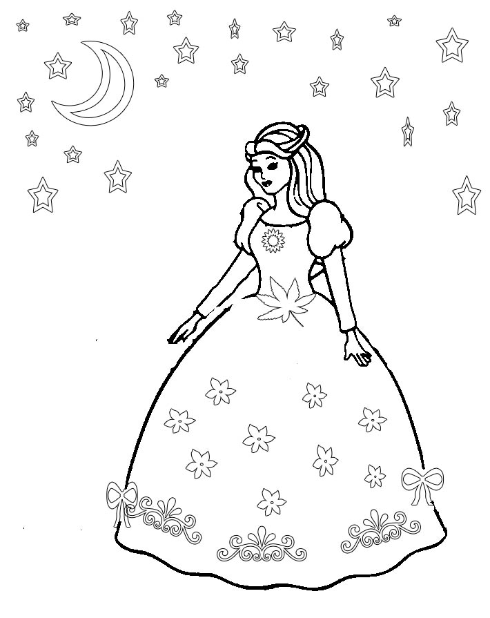 free dresses coloring pages - photo#20