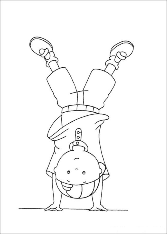 Caillou Coloring Pages Online - Picture 8 – Free Printable Caillou