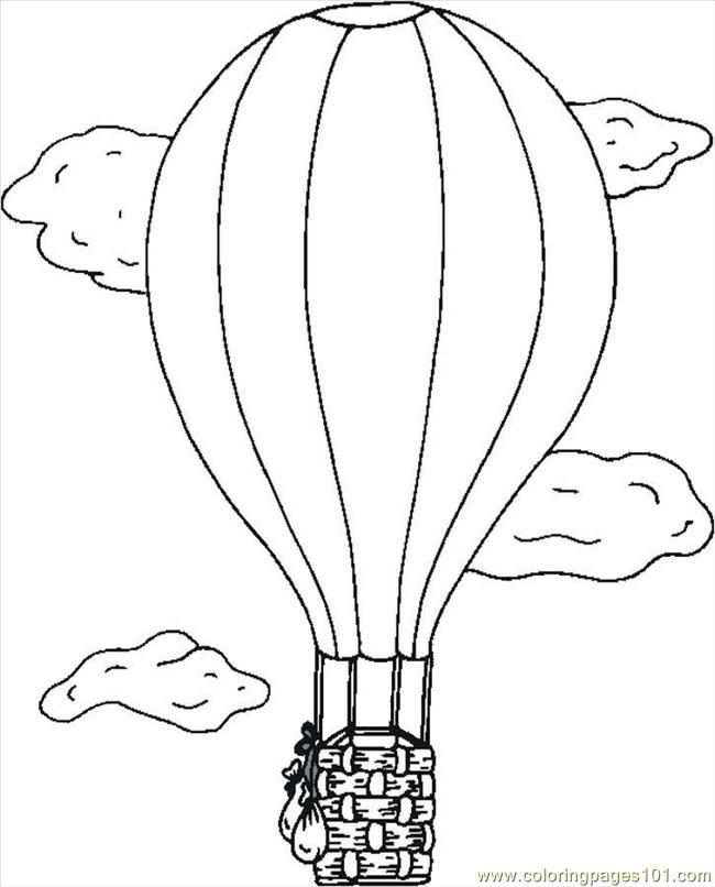 Weather Balloon Drawing Printable Hot Air Balloon