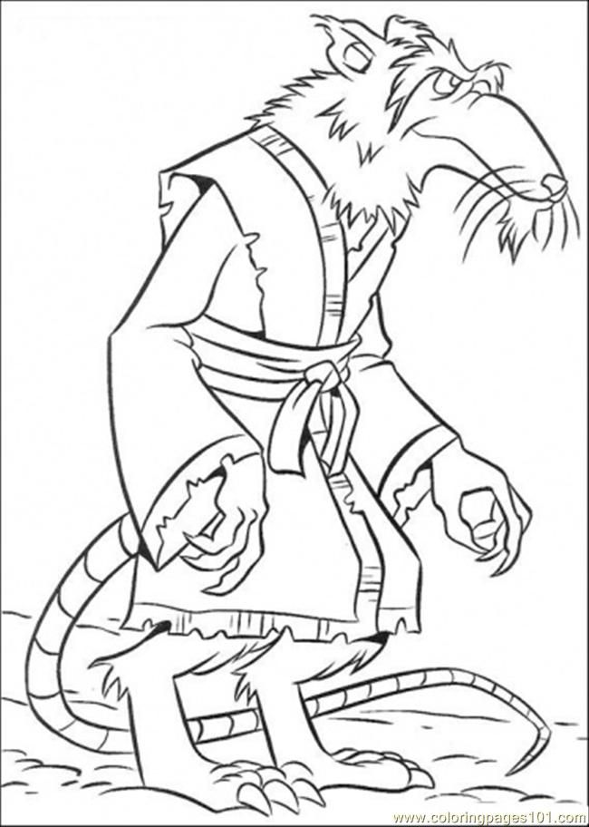 Coloring Pages Splinter (Cartoons > Ninja Turtles) - free