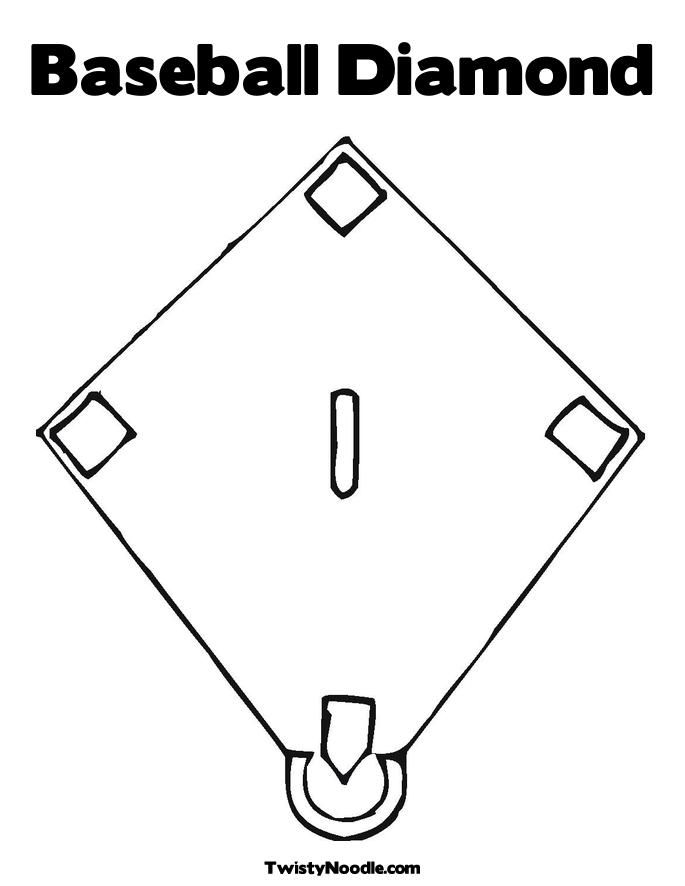 coloring book pages baseball field - photo#10