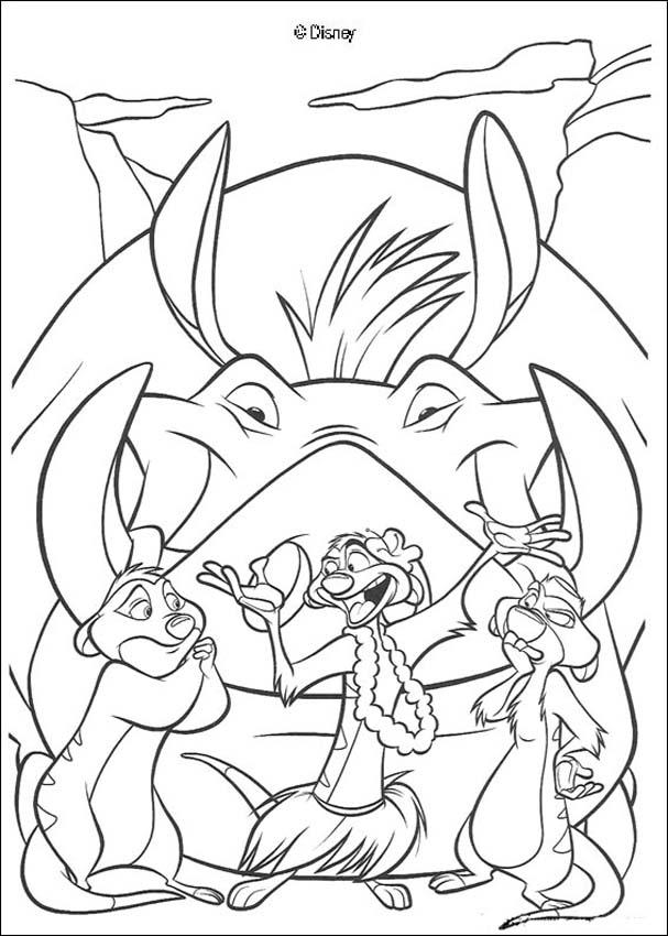 timon and pumba coloring pages - photo#12