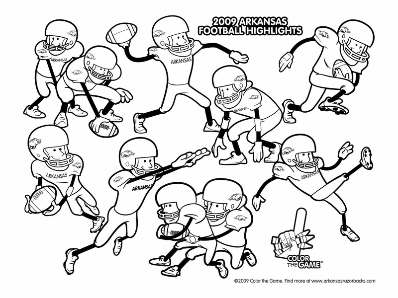 arkansas razorbacks football coloring pages - Football Coloring Page