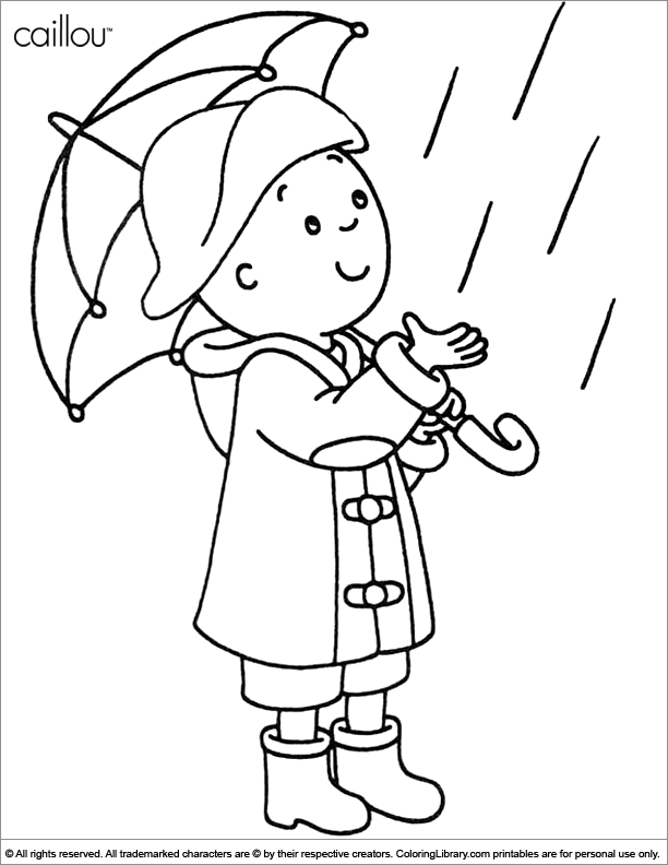 caillou coloring pages gilbert - photo#45